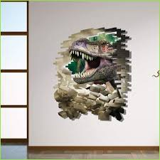 Fearsome Dinosaur 3d Wall Sticker Wallstickersforkids Ie