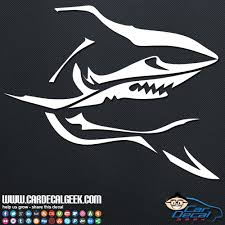 Menacing Shark Car Window Decal Sticker Wildlife Decals