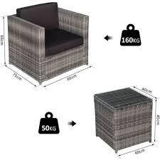 wicker garden table chairs sofa outdoor