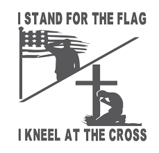 I Stand For The Flag I Kneel At The Cross Vinyl Graphic Decal Graphic Decal By Shop Vinyl Design Shop Vinyl Design