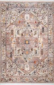 light brown tribal medallion rug