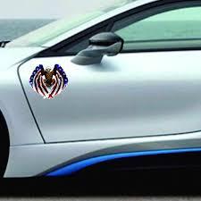 Newest Car Decal Flying Hawk Auto Truck Hood Side Eagle Usa Flag Sticker Car Accessories Car Styling Stickers Decals Car Stickers Aliexpress
