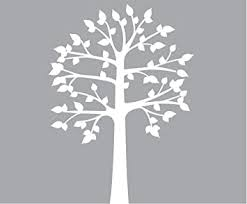 Amazon Com Shelf Tree Wall Decals Fabric White Tree Wall Decal Perfect For Shelves Or Shelving Baby