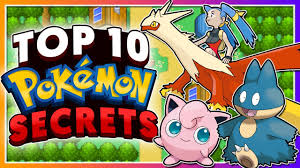Top 10 SECRETS in the Pokémon Games! - YouTube