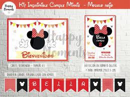 Kit Imprimible Minnie Rojo Personalizado Decoracion Cumple