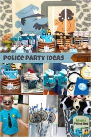 police themed 4th birthday party