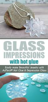 hot glue jewelry using glass dishes as