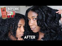 black hair homemade protein treatment