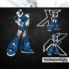 Mega Man X Vinyl Decal Sticker Video Game Car Laptop Pc Tower Decor 14 00 Picclick