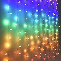 Unicornworlds Fairy Lights Led Curtain Lights Color Globe String Lights For Bedroom Wall Boho Dorm Rainbow Unicorn Room Decor For Teen Girls Kids Wedding Birthday Christmas Party Decorations Icicle Twinkle