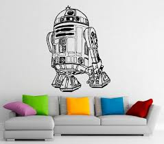 R2d2 Wall Decal Vinyl Stickers Star Wars Home Interior Art Etsy