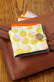 how to sew a fabric wallet mollie makes