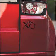 Amazon Com Underground Printing Hug And Kiss Xo Love Relationship Heart Vinyl Decal Sticker 4 Wide White Automotive