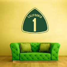 Wall Decal Vinyl Sticker Decals California Sign One Number Z1356 Ebay