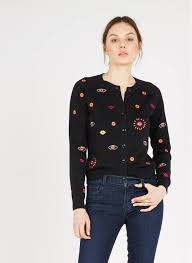 Cardigan With Embroidered Pattern Black Paul Smith - Designers | Place des  Tendances
