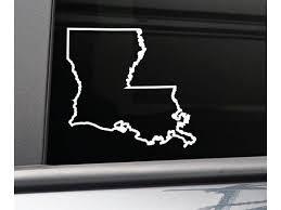 Louisiana Vinyl Decal Laptop Car Truck Bumper Window Sticker 5 5 X 5 White Newegg Com