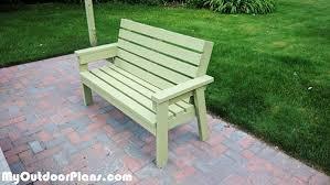 diy outdoor bench ideas you can build