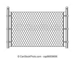 Metal Chainlink Fence Vector Steel Linked Chains Fencing Enclosure Pattern Item Isolated On White Background Canstock