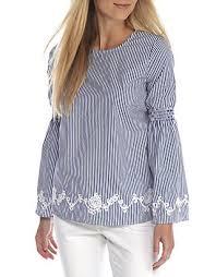 Crown & Ivy™ Bell Sleeve Stripe Shirt   belk