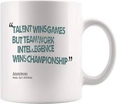 com teamwork wins championship inspirational coffee mug