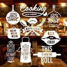 jual stiker cooking dapur quotes chef kaca dinding kafe rumah