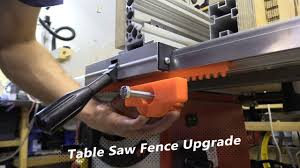 New Table Saw Fence Fine Adjustment Test Youtube
