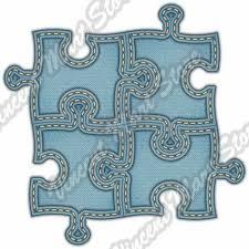 Puzzle Board Logic Game Denim Blue Jeans Car Bumper Vinyl Sticker Decal 4 6 For Sale Online Ebay