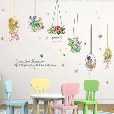 3d Wall Stickers Flower Wall Paper Family Flower Plant Diy Removable Art Vinyl Wall Stickers Decal Mural Home Decor Cloud Wall Decals Cloud Wall Stickers From Gl8888 4 77 Dhgate Com