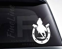 Horseshoe Rodeo Cowboy Vinyl Decal Sticker Decal For Cars Laptops