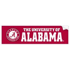 Alabama Crimson Tide Circle Bumper Sticker Zazzle Com