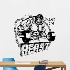 Beast Mode Gym Wall Decal Fitness Vinyl Sticker Motivation Poster Decor E660 Vinyl Stickers Gym Wallgym Wall Decals Aliexpress