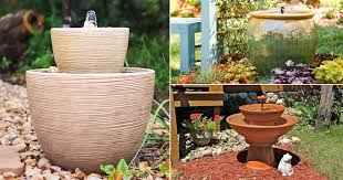 diy container water fountain ideas that