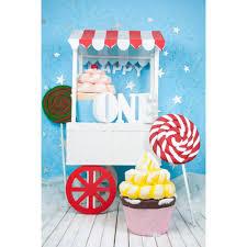 Laeacco حلويات كعكة عربة الآيس كريم منزل الطفل الأطفال عيد ميلاد