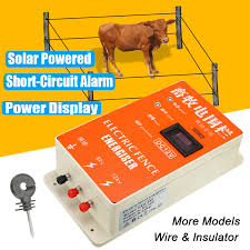 Solar Electric Fence Energizer Charger High Voltage Pulse Power Supply Controller Animal Poultry Farm Electric Fencing Fencing Trellis Gates Aliexpress