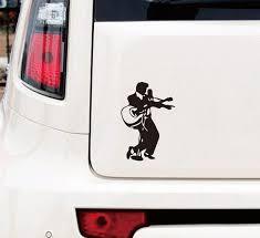 Elvis Guitar Car Motorbike Matte Black Vinyl Sticker Graphic Decal Funny Wish