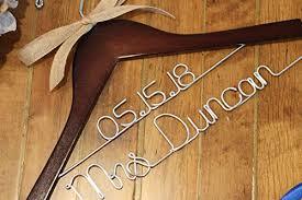 Amazon Com Personalized Wire And Decal Bridal Hanger Bridesmaid Hangers Bride Hanger Mrs Hanger Wedding Hangers Custom Vinyl Title Hangers Handmade