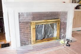 spray paint a brass fireplace insert