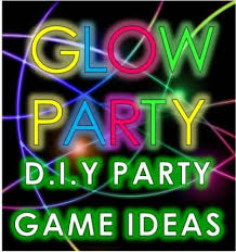 glow party ideas and neon party games