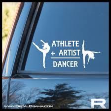 Athlete Artist Dancer Vinyl Car Laptop Decal Decal Drama