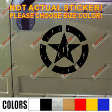 Army Star Decal Sticker 4x4 Off Road Car Vinyl Distressed Bold Fit For Jeep Toyota Etc Car Stickers Aliexpress