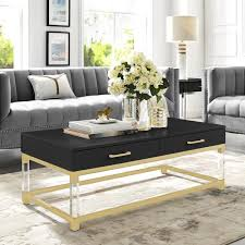 home caspian black gold coffee table