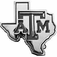 Texas Flag Large Chrome Metal Auto Emblem New Car Decal Sticker State Ebay