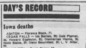 Ida Death Record - Newspapers.com
