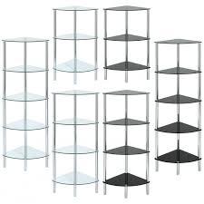 curved glass corner shelf unit choice