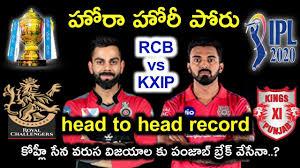 RCB vs KXIP head to head record