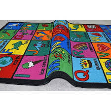 Area Rug Kids Room Play And Learn Carpet Learning Design Play Time Game Room Rugs Abc 001 Walmart Com Walmart Com