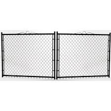 5 Ft H X 12 Ft W Vinyl Coated Steel Chain Link Fence Gate In The Chain Link Fence Gates Department At Lowes Com