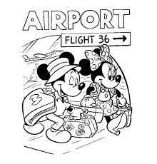 Kleuren Nu Mickey En Mini Gaan Op Vakantie Kleurplaten