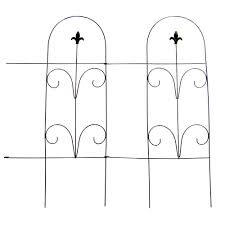 Vigoro 32 In Romantic Folding Garden Fence 51505 The Home Depot