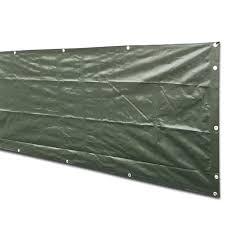 Alion Home Dark Green Heavy Duty Waterproof Wind Block Privacy Screen Tarp For Backyard Deck Patio Balcony Fence Porch Window Pergola 100 Blockage 8 X 10 Walmart Com Walmart Com